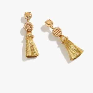 J.Crew Tassel ball earrings